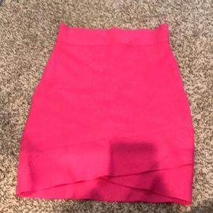 BCBG hot pink pencil skirt